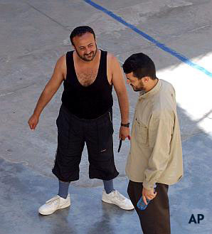 AP Photo:  Barghouti in Jail