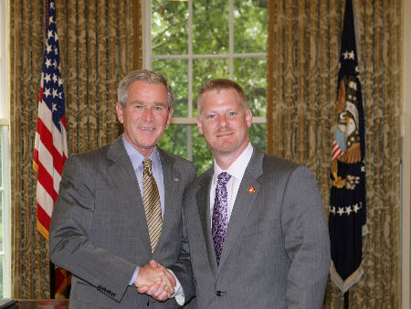 President Bush and Steve Schippert