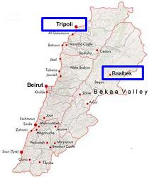 Map - Tripoli-Baalbek