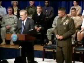Rumsfeld via Pentagon Channel